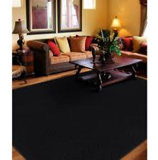 Solid Black Area Rugs Solid Machine Made Area Rugs Ebay