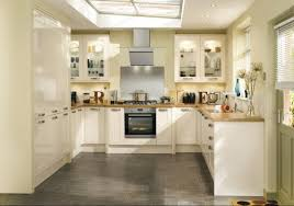 Howdens Kitchen Design by Burford Gloss Ivory Contemporary Kitchen From Howdens Kitchens