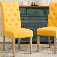 Yellow Kitchen Table And Chairs - yellow kitchen u0026 dining chairs you u0027ll love wayfair