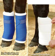 no bow wraps leg protection equine no bow and standing wraps quilted