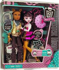 clawd and draculaura high draculaura clawd wolf 10 5 doll 2 pack damaged