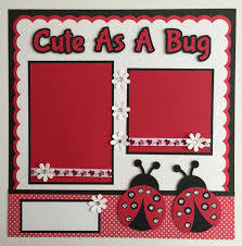 premade scrapbooks handmade premade 12 x12 as a bug ladybug scrapbook page