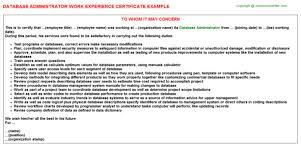 Dba Administrator Resume Dba Cover Letter It Database Administrator Cover Letter Epic