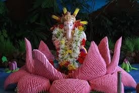 Home Ganpati Decoration T Creations 3 D Origami