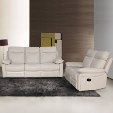 White Leather Sofa Recliner Living Room Brown Leather Reclining Contemporary Sofa