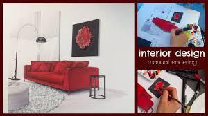 manual rendering architecture interior interior design youtube