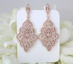 gold bridal earrings chandelier gold earrings bridal earrings wedding jewelry
