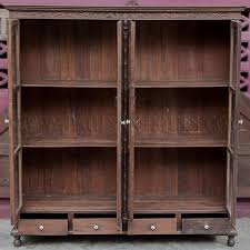 antique display cabinets with glass doors rare antique thai teak display cabinet with drawers and glass doors