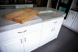 cutting board kitchen island island countertops inhabit concrete design