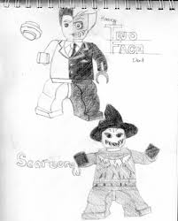 lego two face and scarecrow by scarecrowcrane on deviantart