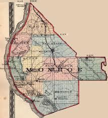 Missouri Illinois Map by Monroe County