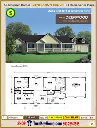 deerwood modular home ranch plan direct priced from all american