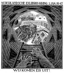 new year s greeting cards well new years greeting card 1947 by m c escher on artnet
