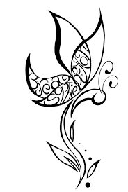outline butterfly design sle