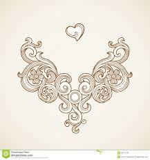 vector baroque ornament in style royalty free stock