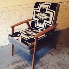 Upholstery For Dummies Vintage Gunlock Chairs Recovered In Contrasting Pendleton Wool