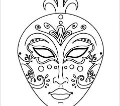 ghost mask printable coloring kids mardi gras comedy