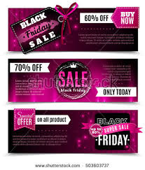 black friday pink sale set black friday sale banners vector stock vector 330207716