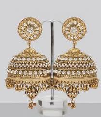 jhumka earrings large gold plated large jhumki jhumka jhumkas indian earring
