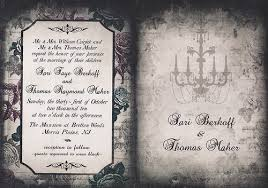 Gothic Halloween Wedding Party Invitation by Sari U0026 Thomas U0027 Elegantly Gothic Halloween Wedding Inspirations