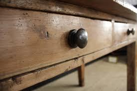 Two Drawer Pine Farmhouse Kitchen Table Gilboys - Farmhouse kitchen table with drawers