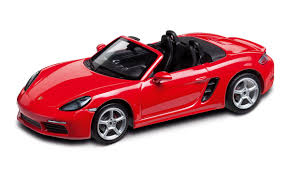Porsche Boxster Red - 718 boxster s 982 guards red 1 43 718 model cars porsche