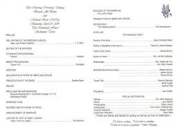 simple wedding program template sles of wedding programs endo re enhance dental co