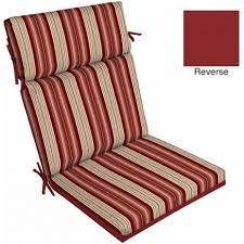 Dining Chair Back Cushions Ff6f1934847f 1 Mainstays Outdoor Patio Dining Chair Cushion Red