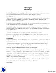 epistemology introduction to philosophy lecture notes docsity