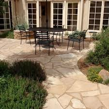 Best  Flagstone Patio Ideas Only On Pinterest Flagstone - Backyard stone patio designs