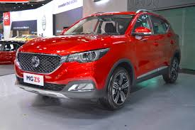 opel thailand mg zs showcased at the 2017 thai motor expo