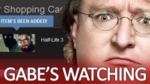 Gabe Newell Memes - gabe s watching youtube