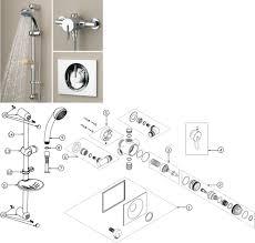 Bristan Thermostatic Bath Shower Mixer Bristan Sonique Sequential Thermostatic Shower And Riser Kit