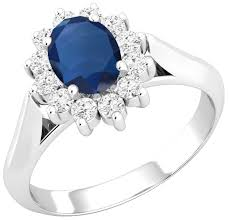 all sapphire rings images Sapphire and diamond cluster ring for women in 18ct white gold png