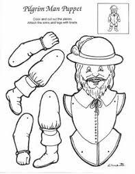 printable thanksgiving native pilgrim coloring