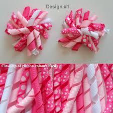 curly ribbon 2x korker clip curly ribbon streamer bow hairclips pair 2 5
