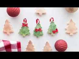 diy salt dough tree ornaments
