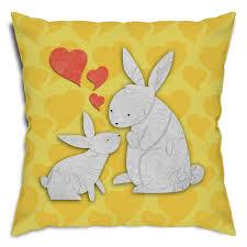rabbit material rabbit decorative pillow cover cotton linen material bunny