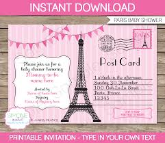 french baby shower invitation template baby shower decoration
