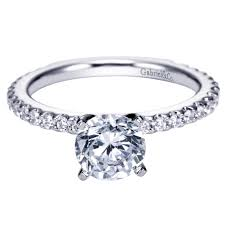 solitaire engagement ring gabriel co engagement rings band solitaire rings
