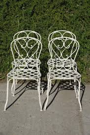 french wrought iron garden chairs 1860s set of 4 for sale at pamono