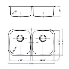 Ruvati RVMADA Undermount Inch ADA Compatible  Gauge - Ada kitchen sink