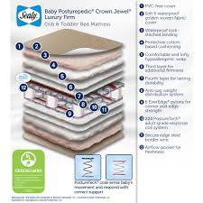 Sealy Soybean Everedge Crib Mattress by Sealy Baby Posturepedic Crown Jewel Luxury Firm Crib Toddler