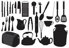 vaisselle cuisine silhouette de vaisselle de cuisine illustration de vecteur