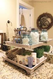 bathroom countertop decorating ideas farmhouse 2 tier storage decor furniture storage