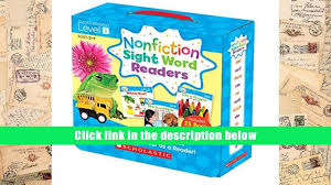 audiobook nonfiction sight word readers parent pack level b