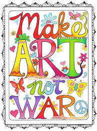 make art not war coloring page from thaneeya mcardle u0027s