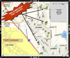 fort carson map fort carson housing 2017 bah post photos prices addresses