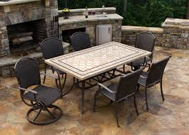 Patio Dining Set Swivel Chairs - product