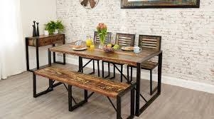 industrial chic dining room table dining table set